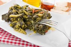 Stewed turnip greens. Stock Image
