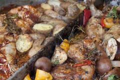 Stewed vegetables Stock Image