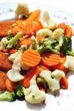 Stewed warzywa na talerzu zdjęcie royalty free