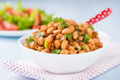 Stewed white beans in tomato sauce Royalty Free Stock Image