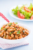 Stewed white beans in tomato sauce Stock Images