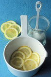 Stewing the sliced lemon Stock Photography