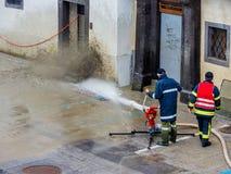 洪水2013年steyr,奥地利 免版税库存照片