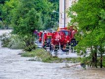 洪水2013年steyr,奥地利 免版税库存图片