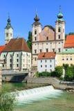 Steyr, Austria settentrionale Fotografie Stock Libere da Diritti