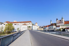 Steyr panorama with St. Michael& x27;s Church Royalty Free Stock Image