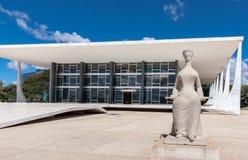 STF大厦在巴西利亚 免版税库存照片