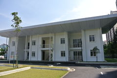 Stff quarters at Ara Damansara Mosque in Selangor, Malaysia. SELANGOR, MALAYSIA – JUNE 15, 2015: Ara Damansara Mosque is a modern design mosque on the green Royalty Free Stock Photo