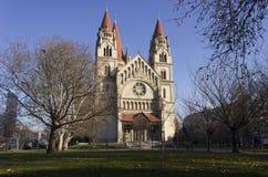 StFrancis von Assisi-Kirche und von seinem Park Stockbilder