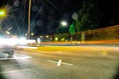 Stgeorg moyen de voitures de rue légère rapide du trafic de danger image libre de droits