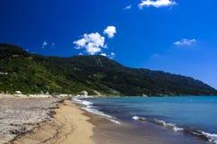 StGeorge海滩, Pagi,科孚岛海岛 免版税库存图片