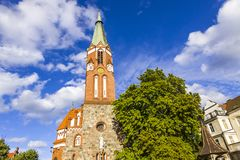 StGeorge ` s Roman Catholic Church i Sopot, Polen Arkivfoton