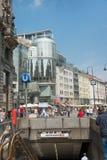 Sthephanplatz metro station - Vienna Royalty Free Stock Images