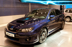 STI de Subaru Impeza WRX - première européenne Images libres de droits