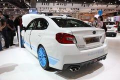 STI di Subaru WRX agli AMI Lipsia, Germania Immagine Stock Libera da Diritti