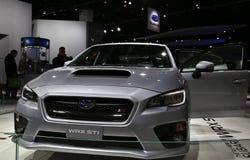 STI di WRX da Subaru su esposizione immagini stock