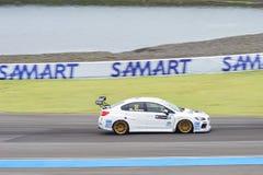 STi TCR de Subaru Impreza de sport mécanique de course de dessus dans les 2016 TCR international Images stock