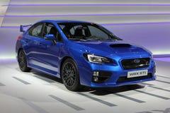 2014 STI van Subaru WRX de Autosalon van Genève Stock Afbeeldingen