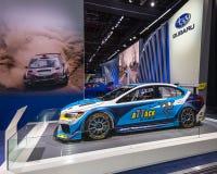 2016 STI van Subaru WRX de Raceauto van de Tijdaanval Stock Foto