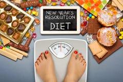 Stia il concetto a dieta Fotografia Stock