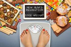 Stia il concetto a dieta Fotografie Stock