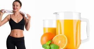 Stia il concetto a dieta Allenamento sano di forma fisica della giovane donna Fotografia Stock Libera da Diritti