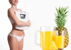 Stia il concetto a dieta Allenamento sano di forma fisica della giovane donna Fotografia Stock