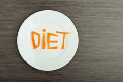 Stia il concetto a dieta. progetti l'alimento. Immagine Stock