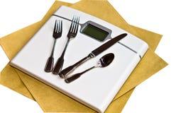 Stia il concetto/obesità/Anorexia/peso a dieta Fotografie Stock