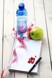 Stia il diario a dieta Fotografie Stock Libere da Diritti