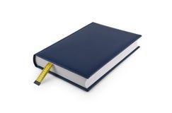 Stia il libro a dieta con il segnalibro fatto della misura di nastro Fotografia Stock Libera da Diritti