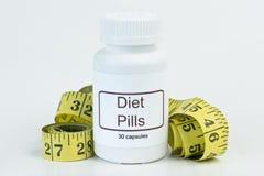 Stia le pillole a dieta Immagini Stock Libere da Diritti