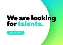 Stiamo cercando il fondo di vettore di talenti illustrazione di stock