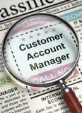Stiamo impiegando l'Account Manager del cliente 3d Fotografie Stock