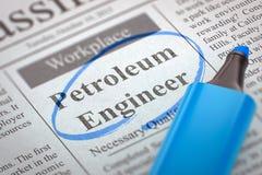 Stiamo impiegando l'ingegnere del petrolio 3d Immagini Stock