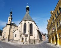stiavnica εκκλησιών banska στοκ εικόνα