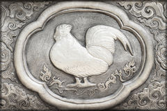 Stich des silbernen Wertes, Tierkreissymbol Stockbilder