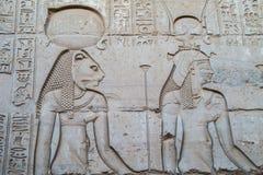 Stich von Sekhmet und von Hathor lizenzfreie stockbilder