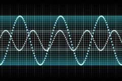 Stichhaltige Entzerrer-Rhythmus-Musik-Schläge Lizenzfreies Stockfoto