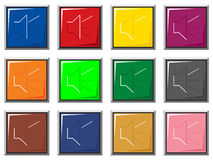 Stichhaltige Farbentasten Lizenzfreie Stockfotos