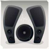 Stichhaltige Lautsprecher Stockfoto