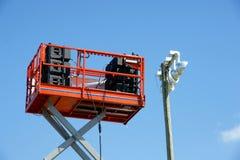 Stichhaltige Lautsprecher auf Aufzugplattform lizenzfreie stockfotografie