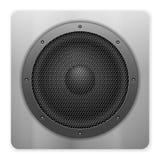 Stichhaltiger Lautsprecher Stockfoto