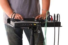 Stichhaltiger Mischer für Audioaufnahme Stockbilder