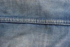 stiching的牛仔布 免版税图库摄影