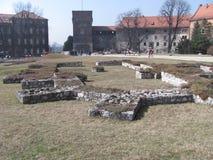 Stichtingen van Oude Wawel royalty-vrije stock afbeelding