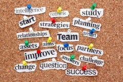 Stichwörter für Erfolg stockfotos