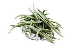 Stick beans. On white background Royalty Free Stock Images