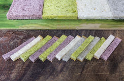 Stick bread of various flovor Royalty Free Stock Image