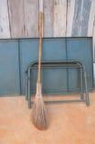 Stick broom Stock Photo